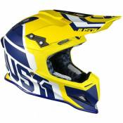 Casque cross Just1 J12 Unit jaune / bleu mat- XS