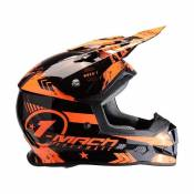 Casque cross Trendy T-902 Mach1 noir / orange- XXL