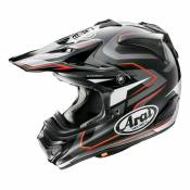 Casque cross Arai MX-V Pure gris/noir/rouge- XL