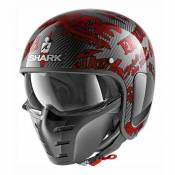 Casque jet Shark S-DRAK FREESTYLE CUP carbone/rouge- S