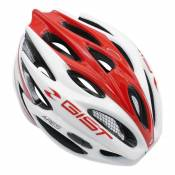 Casque vélo route Gist Ares blanc/rouge (taille 52-58) - 52-58