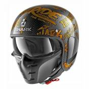 Casque jet Shark S-DRAK FREESTYLE CUP carbone/or- L