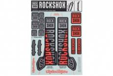 Kit stickers fourche rockshox 35mm troy lee design argent orange