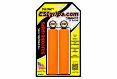 Paire de grips esi chunky 32mm orange