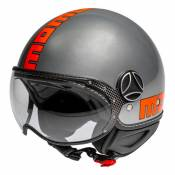 Casque jet Momo Design FGTR EVO gris métal/orange- XS