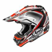 Casque cross Arai MX-V Speedy rouge/gris brillant- S