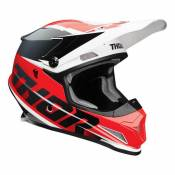 Casque cross Thor Sector Fader rouge/noir brillant- XS