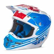 Casque cross Fly Racing F2 Carbon Animal bleu/blanc/rouge- L