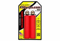 Paire de grips silicone esi extra chunky 34mm rouge