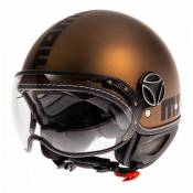 Casque jet Momo Design FGTR EVO marron mat/noir- XL