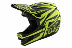Casque troy lee designs d4 carbon mips slash noir jaune xs 52 54 cm