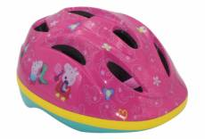 Casque velo peppa pig rose reglable disney cochon
