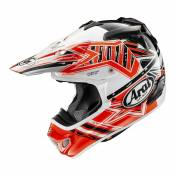 Casque cross Arai MX-V Star orange/blanc/noir brillant- S