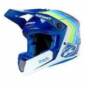 Casque cross Kenny Track Victory blanc/bleu- L
