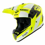 Casque cross Kenny TRACK - GRAPHIC - WHITE NEON YELLOW 2021