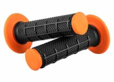 Paire de grips o neal diamond mx dual compound noir orange