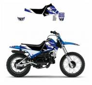 Kit déco Blackbird Dream Graphic 3 Yamaha 50 PW 90-17 bleu