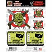 Autocollant Lethal Threat Zombie hunter 15x20cm