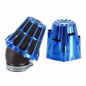 Air box Polini chrome bleu plie 30° d.46