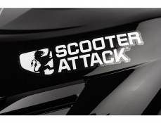 Autocollant Scooter-Attack, blanc