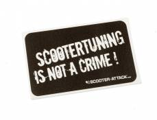 Autocollant ''Scootertuning is not a crime'', oldschool, noir/blanc 63x105mm