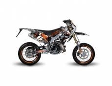 Kit déco Stage6 Honda HM 50 orange - blanc