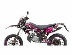 Kit déco Stage6 Derbi X-Treme/ X-Race rose - noir