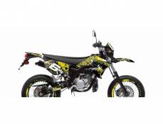 Kit déco Stage6 Yamaha DT50 / MBK X-Limit jaune - noir