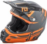 Casque cross Fly Racing F2 Carbon Forge noir/orange/gris - L