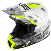 Casque cross enfant Fly Racing Toxin Mips Embargo blanc/noir - YL
