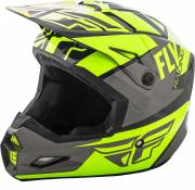 Casque cross Fly Racing Elite Guild gris/jaune fluo - L