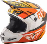 Casque cross Fly Racing Elite Guild noir/orange/blanc - XS
