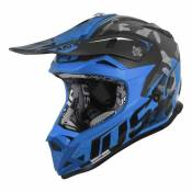 Casque cross Just1 J32 Pro Swat camouflage / bleu- M