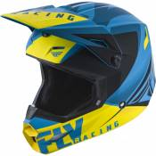 Casque cross Fly Racing Elite Vigilant bleu/jaune/noir - M