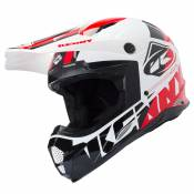 Casque cross Kenny TRACK WHITE BLACK RED 2019