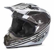 Casque cross Fly Racing F2 Carbon Animal noir/blanc - L