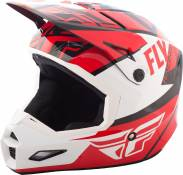 Casque cross Fly Racing Elite Guild rouge/blanc/noir - S
