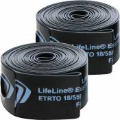 Fonds de jante LifeLine Essential (lot de 2) - Noir - Bleu - 18mm