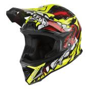 Casque cross enfant Airoh Archer Grimm jaune/rouge brillant - XXS