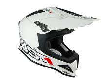 Casque cross Just1 J12 Solid blanc - S