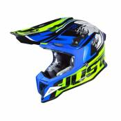 Casque cross Just1 J12 Dominator bleu/jaune- XS