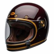 Casque intégral Bell Bullitt Carbon Transcend brilant candy red/gold -