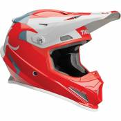 Casque cross Thor Sector Shear rouge/gris clair - S