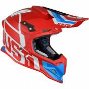 Casque cross Just1 J12 Unit rouge / blanc / bleu mat- M