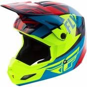 Casque cross enfant Fly Racing Elite Guild bleu/jaune fluo - YS