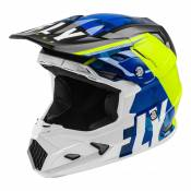 Casque cross enfant Fly Racing Toxin Mips Transfer bleu/jaune fluo/bla