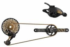 Groupe complet sram xx1 eagle dub boost 12v pedalier 34 dents noir or manivelles 170 mm