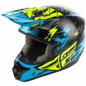 Casque cross enfant Fly Racing Kinetic Shocked noir/turquoise - YS