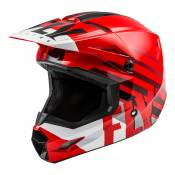 Casque cross enfant Fly Racing Kinetic Thrive rouge/blanc/noir - YL