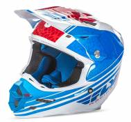 Casque cross Fly Racing F2 Carbon Animal bleu/blanc/rouge - S